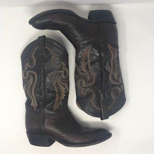Tony Lama Mens Sz 8.5 EEE 8536 Lizard Skin Boots